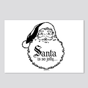 Santa is jolly because ... Postcards (Package of 8